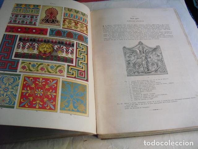Libros antiguos: 1880 ANTHOLOGIE DE L´ORNEMENT DICTIONNAIRE DES STYLES 100 LÁMINAS DE 35X25 CMS CROMOLITOGRAFIADAS - Foto 2 - 80227505