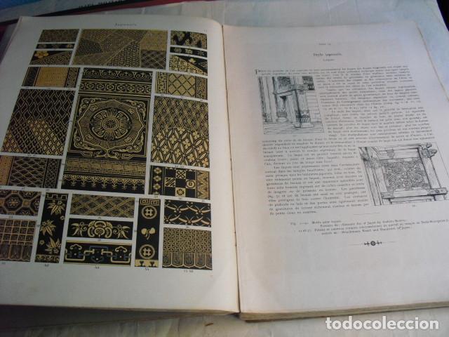 Libros antiguos: 1880 ANTHOLOGIE DE L´ORNEMENT DICTIONNAIRE DES STYLES 100 LÁMINAS DE 35X25 CMS CROMOLITOGRAFIADAS - Foto 3 - 80227505