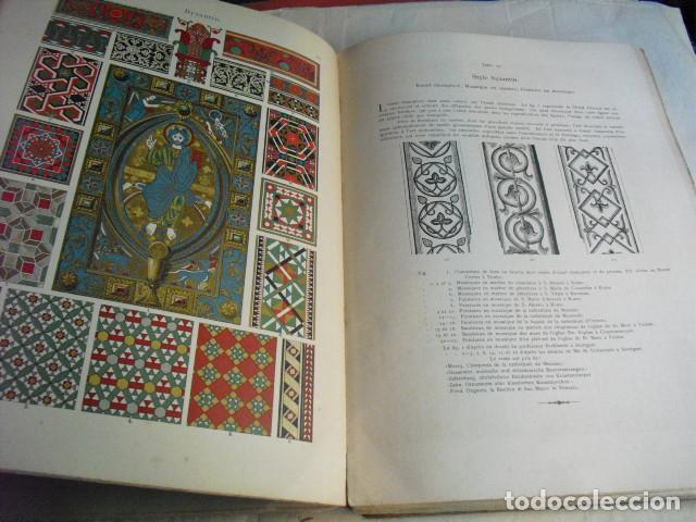 Libros antiguos: 1880 ANTHOLOGIE DE L´ORNEMENT DICTIONNAIRE DES STYLES 100 LÁMINAS DE 35X25 CMS CROMOLITOGRAFIADAS - Foto 5 - 80227505