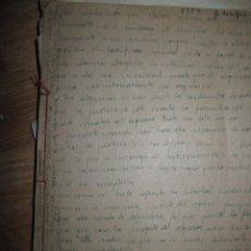 Libros antiguos: LIBRO MANUSCRITO FILOSOFIA AÑOS PRINCIPIOS DE SIGLO 24 PAGINAS NUMERADAS. Lote 80233289