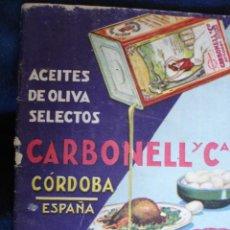 Libros antiguos: ACEITES CARBONELL RECETAS COCINA 48 PG 8ª COCINA. Lote 80430549