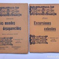 Alte Bücher - Los mundos desaparecidos / Excursiones celestes - Biblioteca de enseñanza popular - 80459757