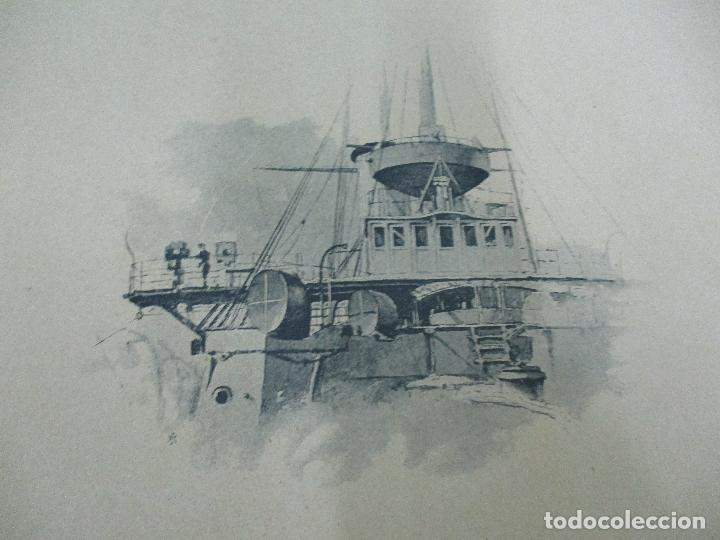 Libros antiguos: La Armada Española - Fotocromograbadas - Acuarelas de Hernandez Monjo - Editado en el Año 1898 - Foto 3 - 80544490
