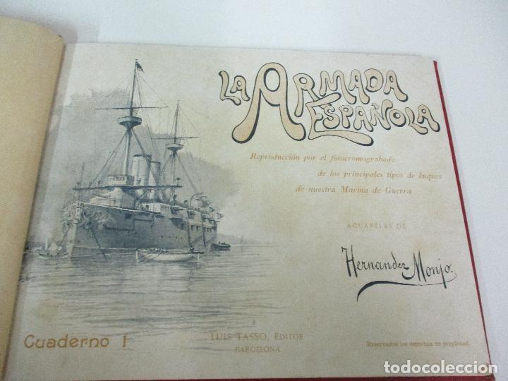 Libros antiguos: La Armada Española - Fotocromograbadas - Acuarelas de Hernandez Monjo - Editado en el Año 1898 - Foto 4 - 80544490