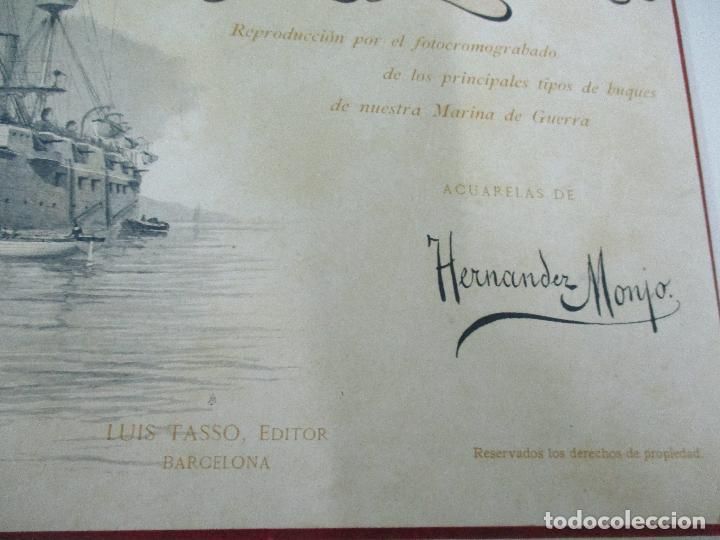 Libros antiguos: La Armada Española - Fotocromograbadas - Acuarelas de Hernandez Monjo - Editado en el Año 1898 - Foto 5 - 80544490