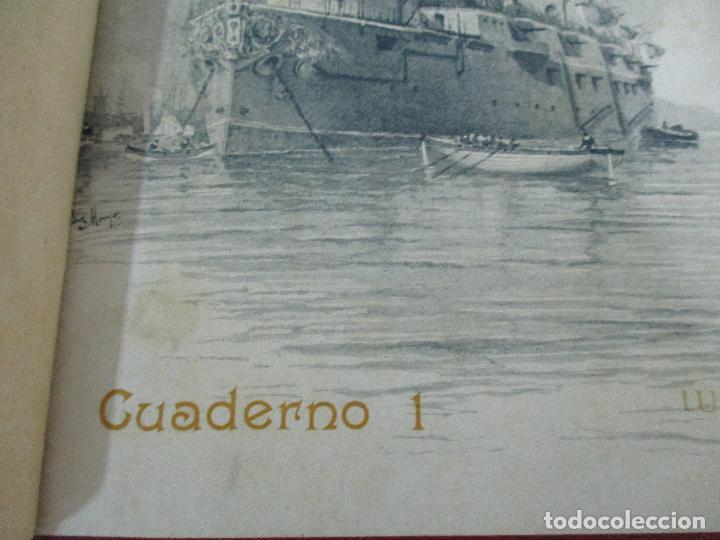 Libros antiguos: La Armada Española - Fotocromograbadas - Acuarelas de Hernandez Monjo - Editado en el Año 1898 - Foto 6 - 80544490
