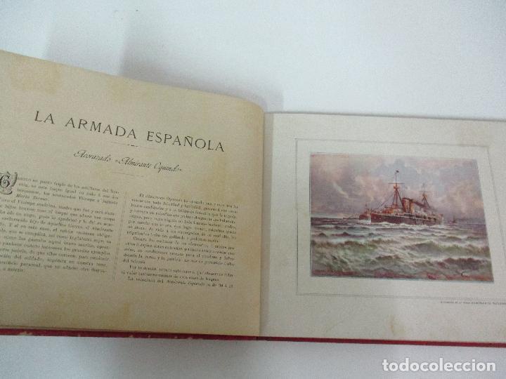 Libros antiguos: La Armada Española - Fotocromograbadas - Acuarelas de Hernandez Monjo - Editado en el Año 1898 - Foto 8 - 80544490