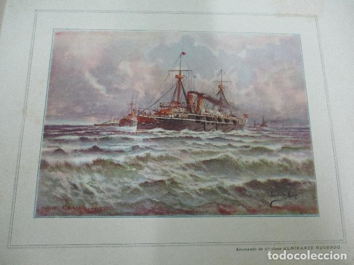 Libros antiguos: La Armada Española - Fotocromograbadas - Acuarelas de Hernandez Monjo - Editado en el Año 1898 - Foto 9 - 80544490