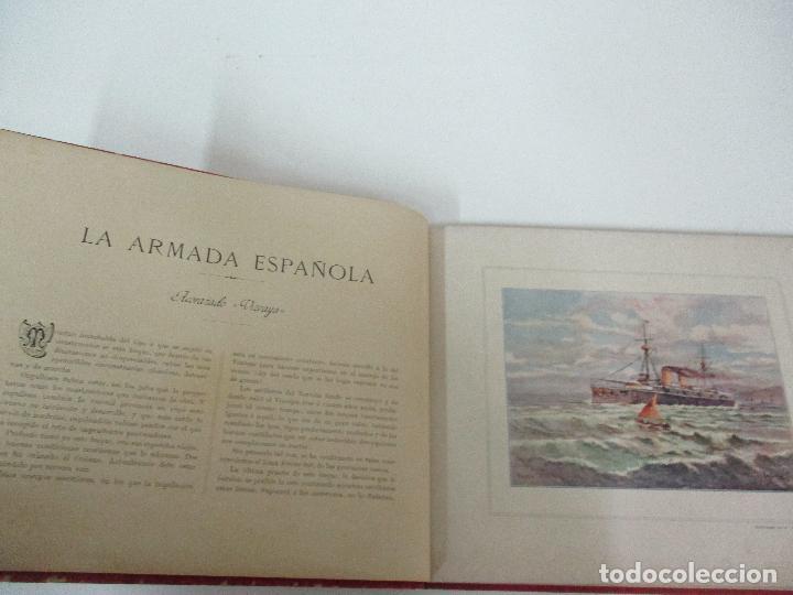 Libros antiguos: La Armada Española - Fotocromograbadas - Acuarelas de Hernandez Monjo - Editado en el Año 1898 - Foto 11 - 80544490