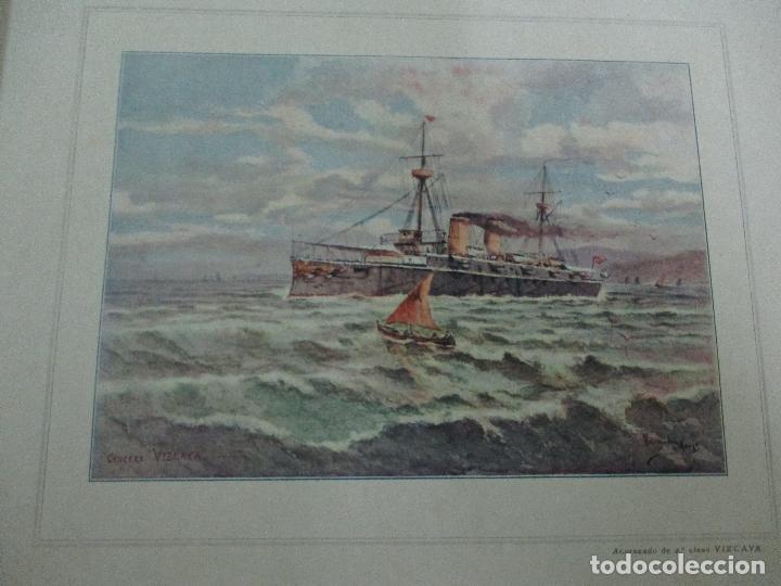 Libros antiguos: La Armada Española - Fotocromograbadas - Acuarelas de Hernandez Monjo - Editado en el Año 1898 - Foto 12 - 80544490