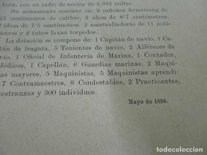 Libros antiguos: La Armada Española - Fotocromograbadas - Acuarelas de Hernandez Monjo - Editado en el Año 1898 - Foto 13 - 80544490