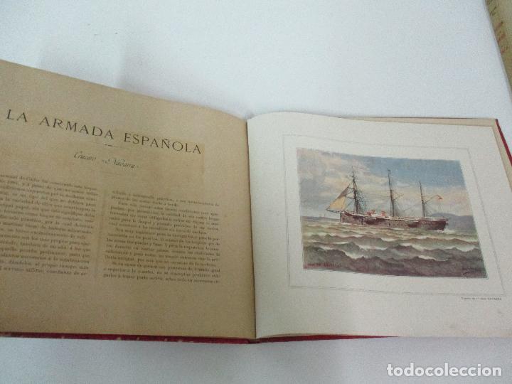 Libros antiguos: La Armada Española - Fotocromograbadas - Acuarelas de Hernandez Monjo - Editado en el Año 1898 - Foto 14 - 80544490