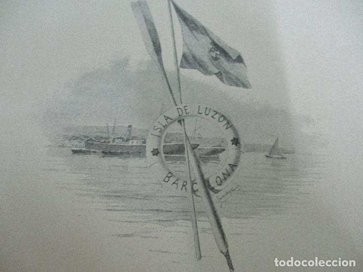 Libros antiguos: La Armada Española - Fotocromograbadas - Acuarelas de Hernandez Monjo - Editado en el Año 1898 - Foto 16 - 80544490