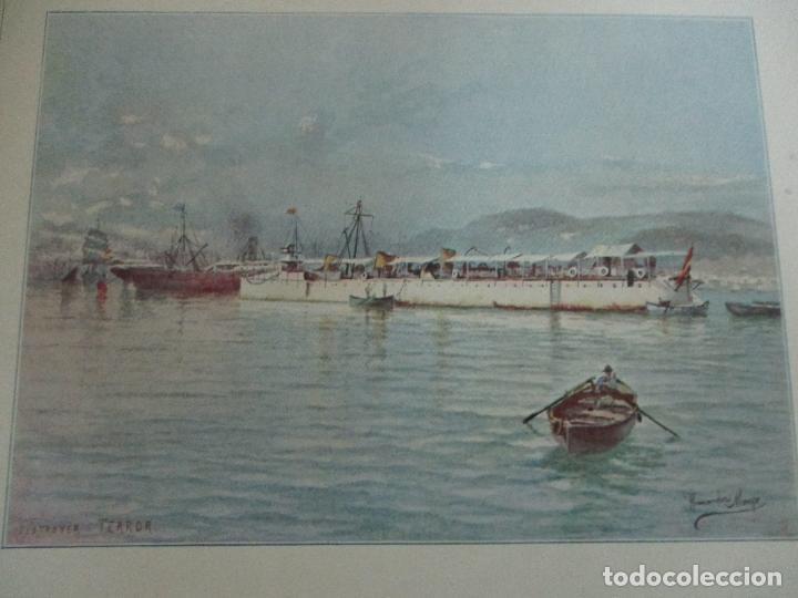 Libros antiguos: La Armada Española - Fotocromograbadas - Acuarelas de Hernandez Monjo - Editado en el Año 1898 - Foto 17 - 80544490