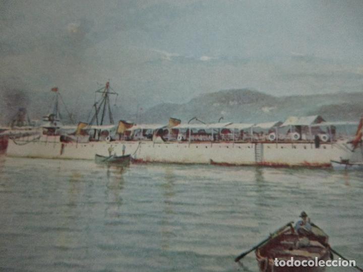Libros antiguos: La Armada Española - Fotocromograbadas - Acuarelas de Hernandez Monjo - Editado en el Año 1898 - Foto 20 - 80544490