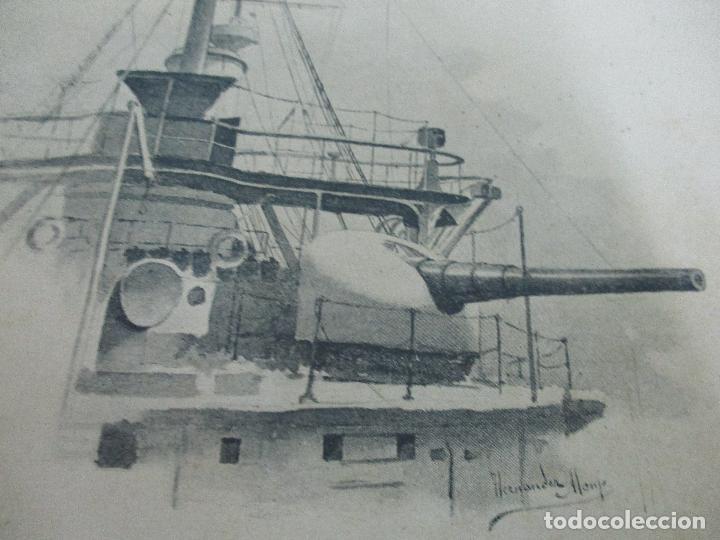 Libros antiguos: La Armada Española - Fotocromograbadas - Acuarelas de Hernandez Monjo - Editado en el Año 1898 - Foto 21 - 80544490