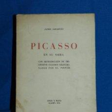 Libros antiguos: (M) JAIME SABARTES - PICASSO EN SU OBRA CON REPRODUCCION DE 19 CUADROS , CRUZ Y RAYA MADRID 1936. Lote 80584238