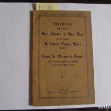 Libros antiguos: SEVILLA..DISCURSO LEÍDO ANTE LA REAL ACADEMIA DE BELLAS ARTES. 1930.. Lote 80733006
