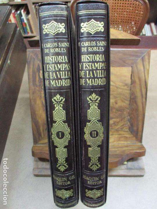 HISTORIA Y ESTAMPAS DE LA VILLA DE MADRID. SAINZ DE ROBLES, FEDERICO CARLOS. 2 VOL. 1933. (Libros Antiguos, Raros y Curiosos - Historia - Otros)