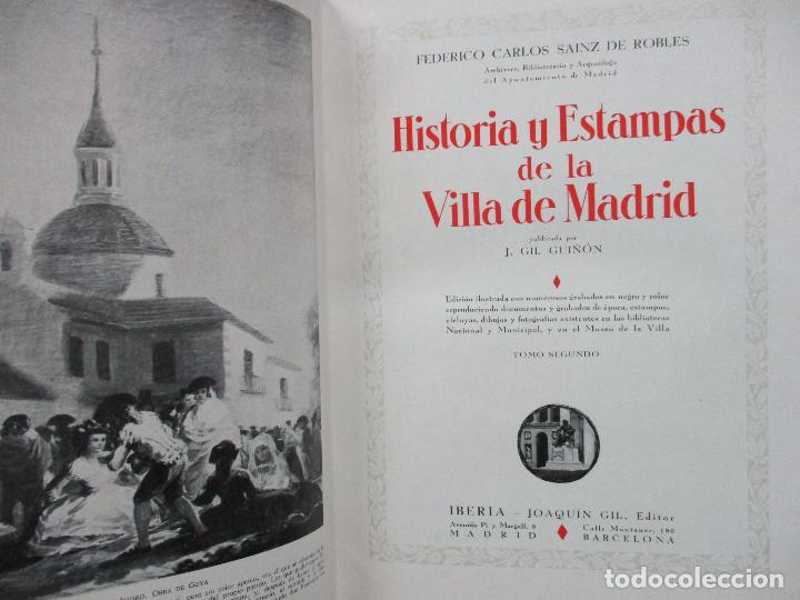 Libros antiguos: HISTORIA Y ESTAMPAS DE LA VILLA DE MADRID. SAINZ DE ROBLES, Federico Carlos. 2 VOL. 1933. - Foto 9 - 80849483