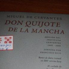 DON QUIJOTE DE LA MANCHA POR CERVANTES