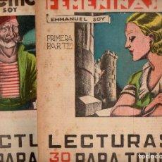 Libros antiguos: EMMANUEL SOY : VOCACIÓN FEMENINA - 2 VOLS.(LECTURAS PARA TODOS, 1935) ILUSTRADO POR COBOS. Lote 81023592