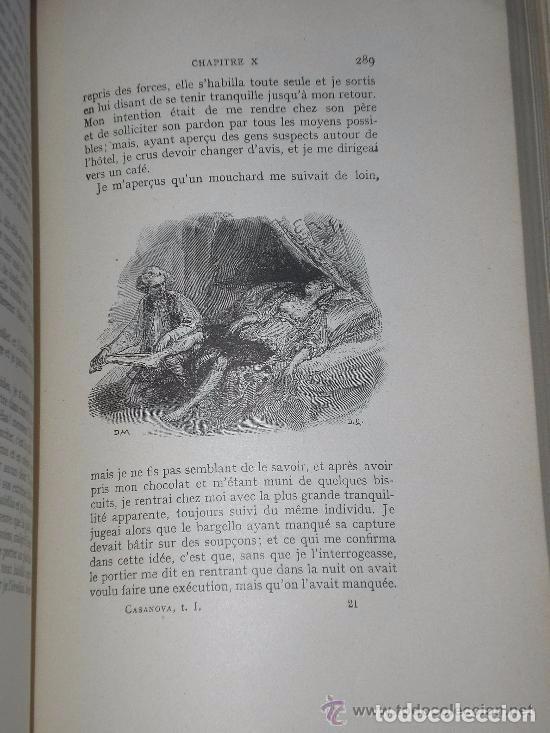 Libros antiguos: Mémoires de J.Casanova de Seingalt écrits par lui-même ... (8 tomos,1926-1927) - Foto 8 - 81096712