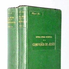 Libros antiguos: HISTORIA INTERNA DOCUMENTADA DE LA COMPAÑIA DE JESUS. (DOS TOMOS).. Lote 81149896