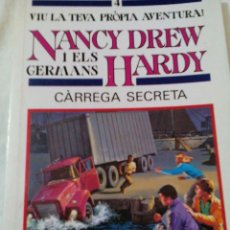 Libros antiguos: C3___LIBRO CATALAN___ NANCY DREW Y EL GERMANS HARDY,CARREGA SECRETA__116 PAGINAS,MIDE 19X13X1CM. Lote 81249880