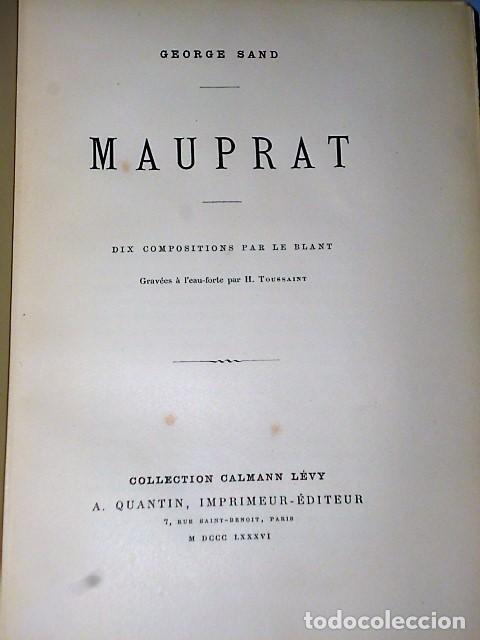 Libros antiguos: MAUPRAT. (1886) - Foto 3 - 81251560
