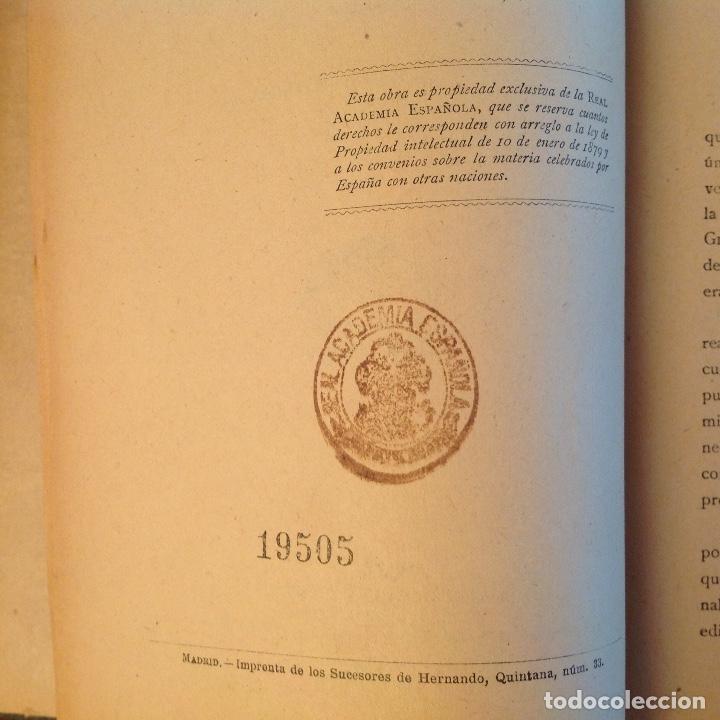 Libros antiguos: Gramática de la lengua castellana por la Real Academia Española 1920, con sello de la Real Academia - Foto 3 - 81326168