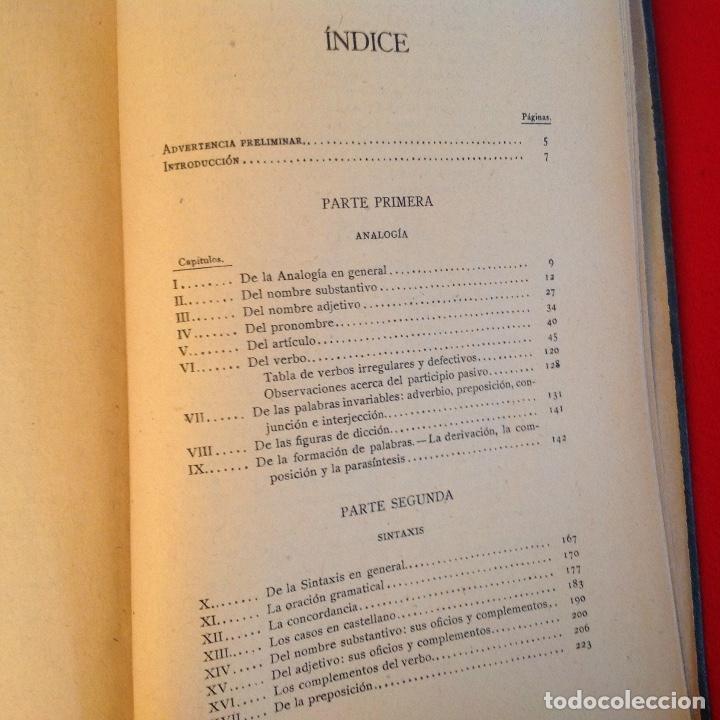 Libros antiguos: Gramática de la lengua castellana por la Real Academia Española 1920, con sello de la Real Academia - Foto 4 - 81326168