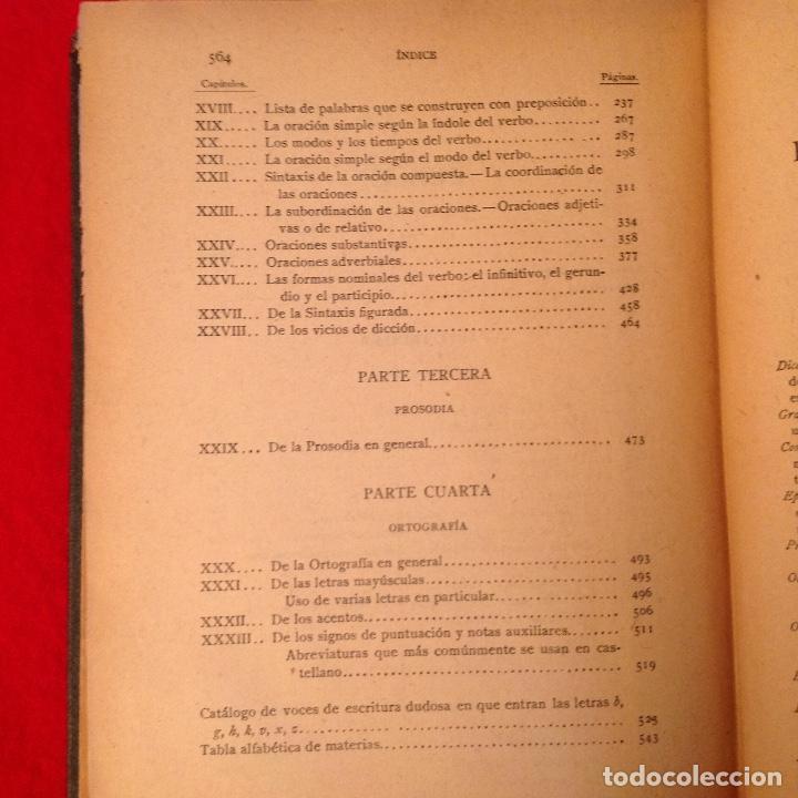 Libros antiguos: Gramática de la lengua castellana por la Real Academia Española 1920, con sello de la Real Academia - Foto 5 - 81326168