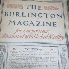 Libros antiguos: REVISTA DE ARTE THE BURLINGTON MAGAZINE AGOSTO DE 1931,PINTURA ITALIANA EN EL RIJKSMUSEUM,. Lote 81555432