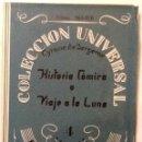 Libros antiguos: HISTORIA COMICA O VIAJE A LA LUNA CYRANO DE BERGERAC 1924 COLECCION UNIVERSAL Nº 969-970 INTONSO. Lote 168329176