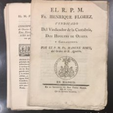 Libros antiguos: EL R.P.M. FR. HENRIQUE FLOREZ, VINDICADO DEL VINDICADOR DE LA CANTABRIA, DON HIPOLYTO. Lote 76226671
