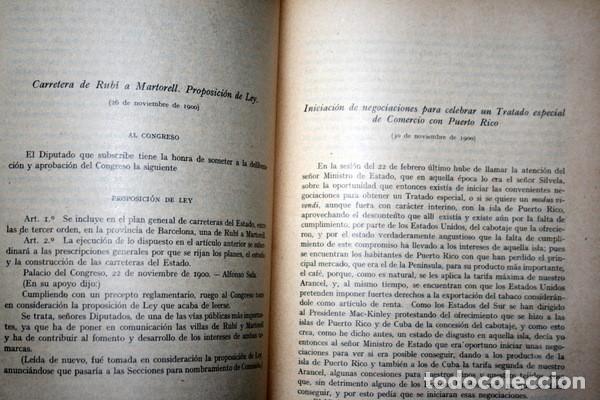 Libros antiguos: DISCURSOS PARLAMENTARIOS - INTERVENCIONES PARLAMENTARIAS - SALA ARGEMI ( CONDE DE EGARA) - Foto 4 - 81888804