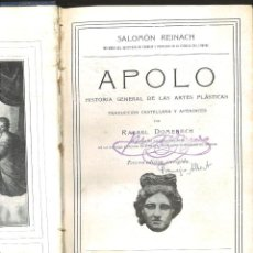 Libros antiguos: APOLO. HISTORIA GENERAL DE LAS ARTES PLÁSTICAS. SALOMÓN REINACH. Lote 81938968