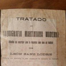 Libros antiguos: TRATADO DE TAQUIGRAFÍA MARTINIANA MODERNA. IMPRENTA LOMBARDERO, LA CORUÑA. Lote 82046280