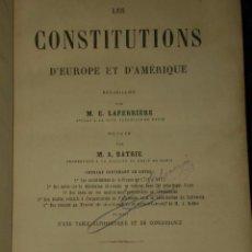 Libros antiguos: LES CONSTITUTIONS D'EUROPE ET D'AMERIQUE.(1869). Lote 82056184