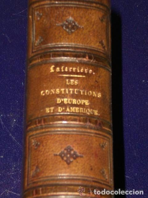 Libros antiguos: LES CONSTITUTIONS DEUROPE ET DAMERIQUE.(1869) - Foto 3 - 82056184