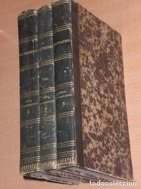Libros antiguos: OEUVRES CHOISIES DE M. DE CHATEAUBRIAND. GÉNIE DU CHRISTIANISME. (3 TOMOS, 1834) - Foto 3 - 82101744