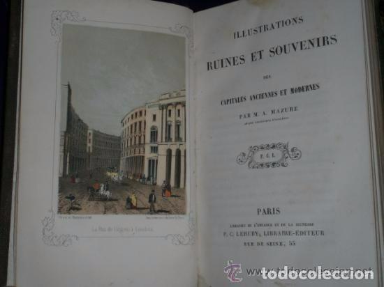 ILLUSTRATIONS, RUINES ET SOUVENIRS DES CAPITALES ANCIENNES ET MODERNES. (Libros Antiguos, Raros y Curiosos - Otros Idiomas)