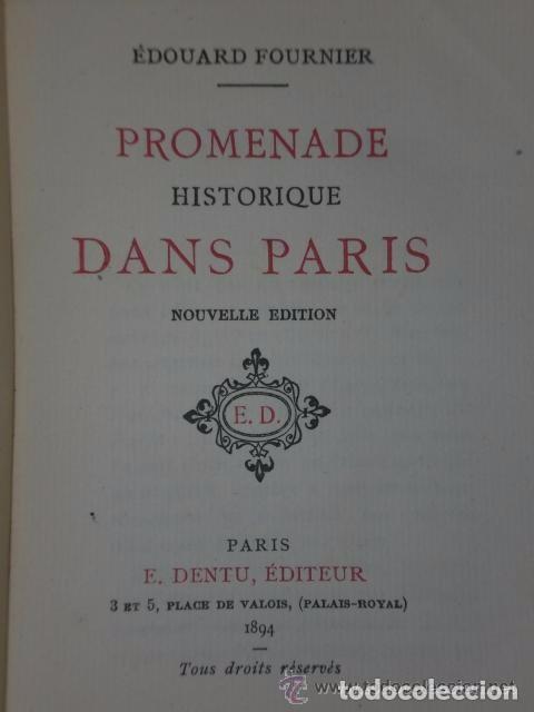 PROMENADE HISTORIQUE DANS PARIS. (1894) (Libros Antiguos, Raros y Curiosos - Otros Idiomas)