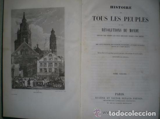 Libros antiguos: HISTOIRE DE TOUS LES PEUPLES ET DES RÉVOLUTIONS DU MONDE...Tome Sixième. - Foto 2 - 82108688