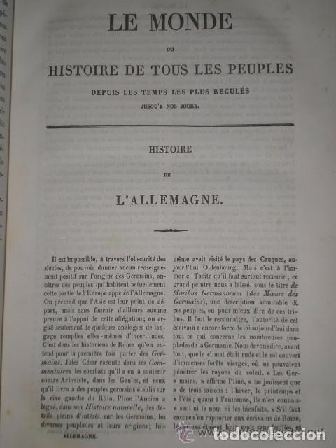 Libros antiguos: HISTOIRE DE TOUS LES PEUPLES ET DES RÉVOLUTIONS DU MONDE...Tome Sixième. - Foto 3 - 82108688
