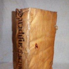 Libros antiguos: PARADISUS CARMELITICI DECORIS - AÑO 1639 - M.A.DE CANASATE - PERGAMINO FOLIO.HERETICOS.. Lote 82213384