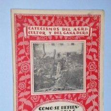 Libros antiguos: CÓMO SE DEFIENDEN AGUAS PARA RIEGOS. Lote 82221812