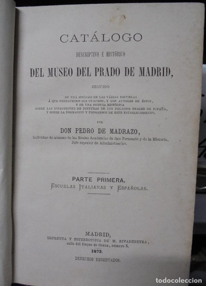 Libros antiguos: CATALOGO DEL MUSEO DEL PRADO. 1872 - PEDRO DE MADRAZO - Foto 6 - 27208035