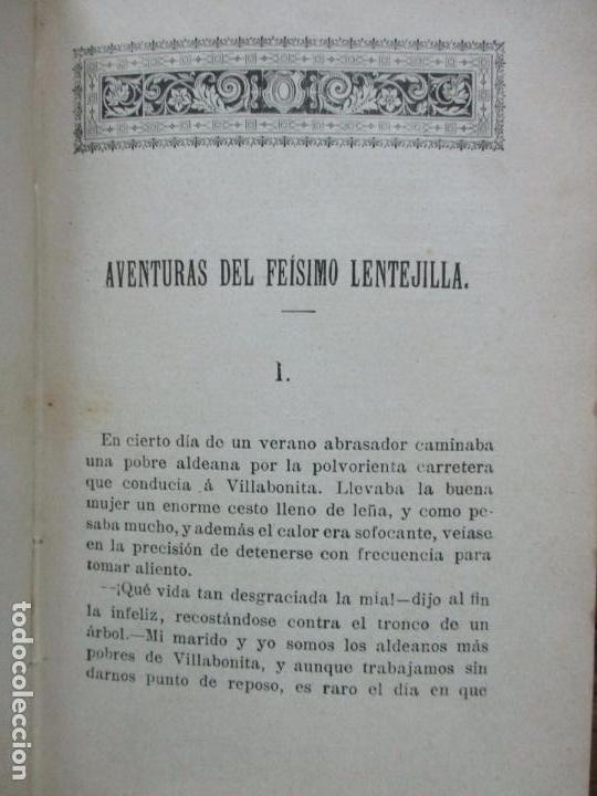 Libros antiguos: AVENTURAS DEL FEÍSIMO LENTEJILLA. CUENTO FANTÁSTICO. ILUSTR. N. MÉNDEZ-BRINGA. C. 1900. - Foto 3 - 82876116